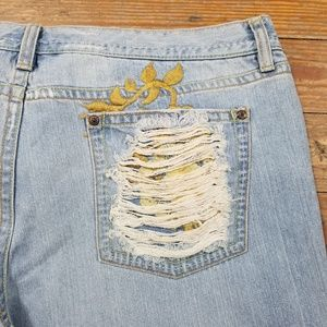 Old Navy Bootcut Distressed Jeans